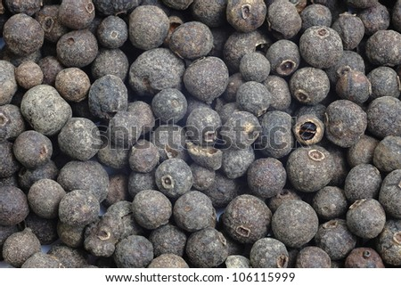 Closeup background of pepper seeds.
