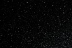 closeup background texture of snowflakes during a snowfall on a black background
