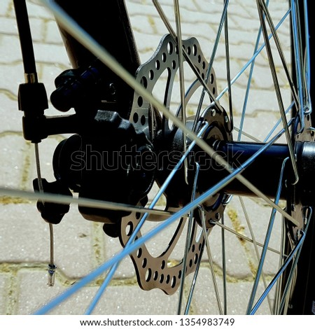 Closeup bicycle wheel #1354983749