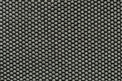 Closeup black plastic mat. Background texture with intertwined bands.