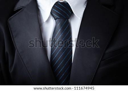Closeup businessman suit and tie