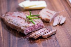 Closeup carnivore diet. Meat heal idea. Plant-free. Non-vegan. Healthy nutrition food.