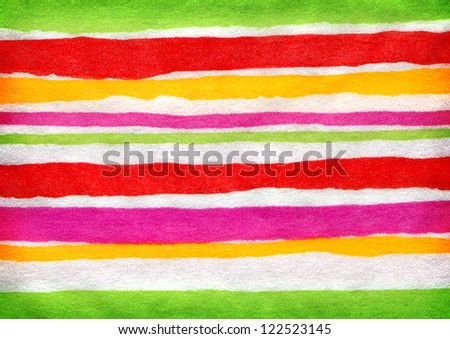 Closeup color stripes on paper. Hi res - stock photo