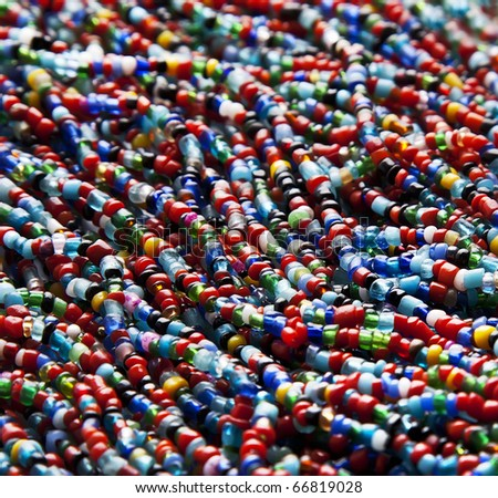 Closeup colorful beads