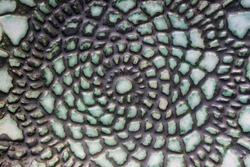Closeup colorful ceramic oxidation color