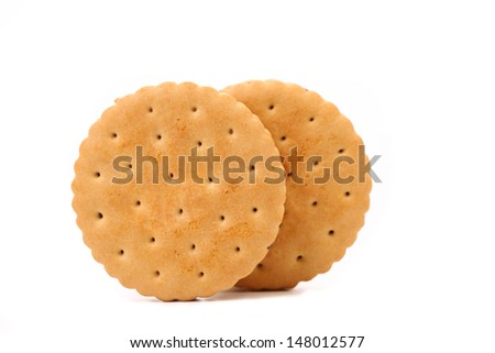 Closeup cookie biscuits with filling