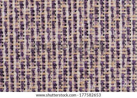 Closeup detail of a purple sisal carpet texture background. #177582653