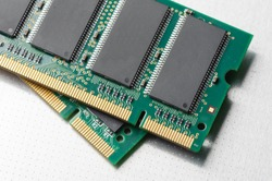 closeup details of computer memory (RAM)