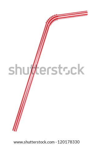 Closeup Drinking straw on a white background