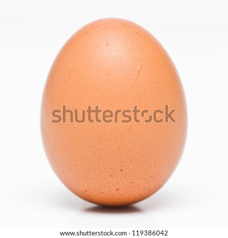 Closeup eggs isolated on white background.