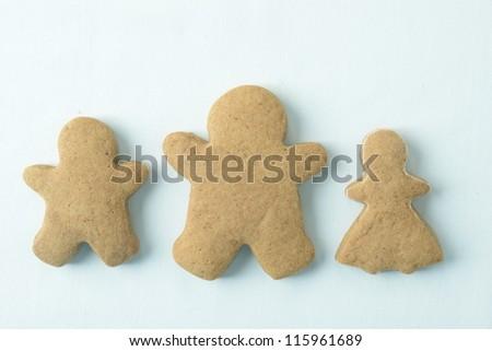 closeup Gingerbread Cookies