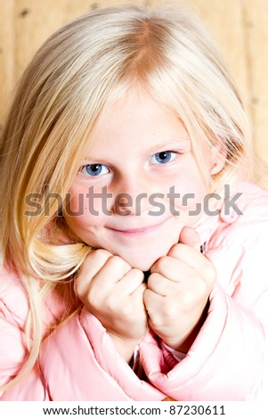 closeup image of a beautiful little girl