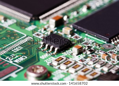 Closeup image of a circuit board