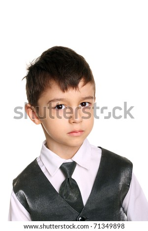 closeup image of a cute little boy