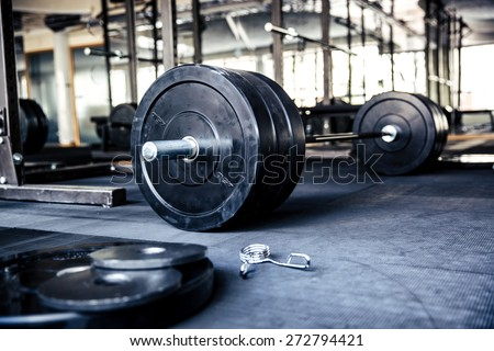 Closeup image of a fitness equipment in gym