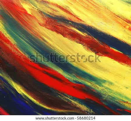 closeup image of an original acrylic abstract painting