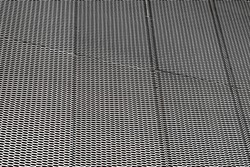 closeup image of expanded metal for Decoration, architecture and building