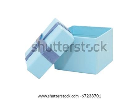 Closeup image of gift box, isolated on white background