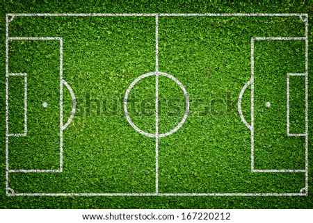 Closeup image of natural green grass soccer field