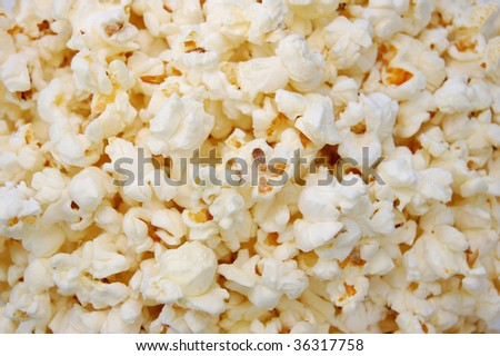 Closeup image of pop corn - stock photo