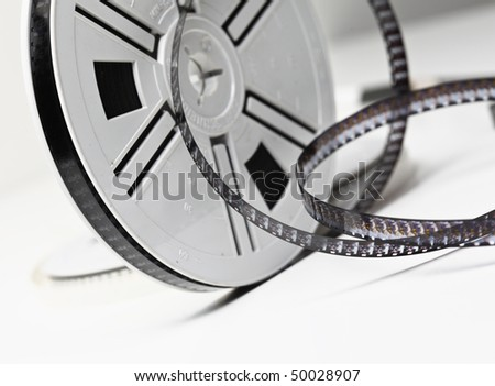 closeup image on classic 8mm movie film background