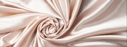 Closeup ivory cloth for wedding dress in rose shape
