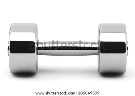 Closeup 2 kg Steel Dumbbells on a white background
