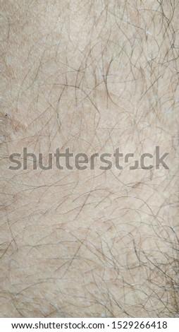 Closeup look of human body hair