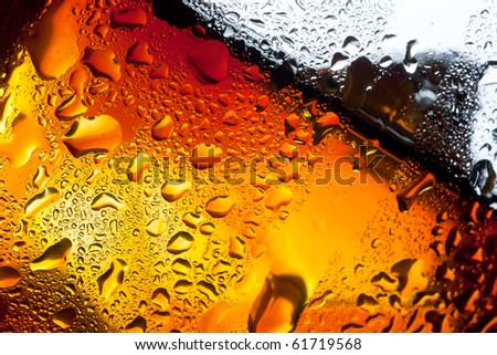 Closeup misted glass of whiskey - stock photo