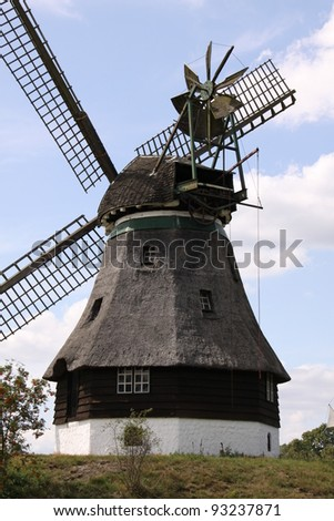 closeup of a beautiful windmill