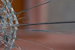 Closeup of a broken glass