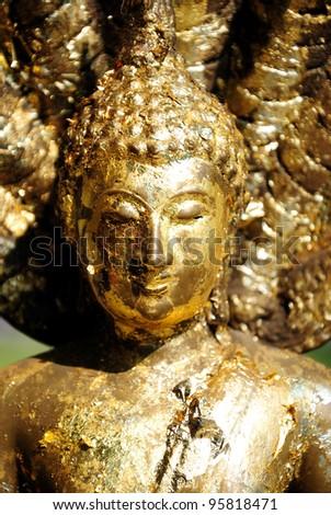 Closeup of a buddha statue