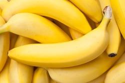 Closeup of a bundle of bananas in natural light