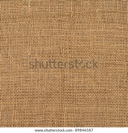 Closeup of a burlap texture