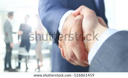 Closeup of a business handshake #526861459