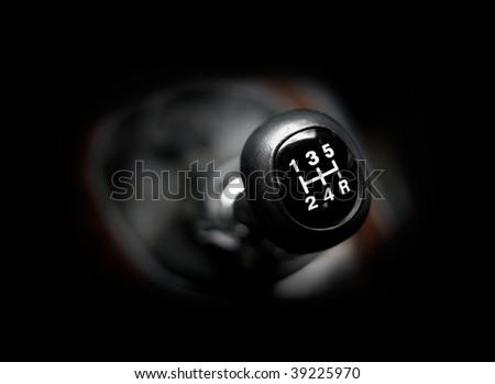 Closeup of a car 5 speed gearstick. #39225970