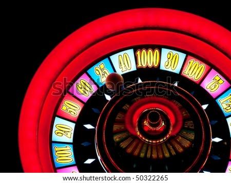 Closeup of a casino slot machine in Las vegas