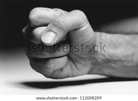 Closeup of a clenched fist