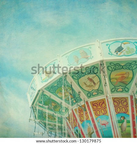 closeup of a colorful carousel...