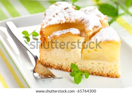 closeup of a fresh baked apple pie