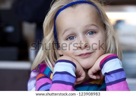 Closeup of a little girl