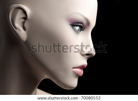 Closeup of a mannequin