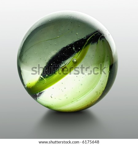 closeup of a marble with reflection