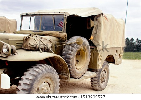 Closeup of a military vehicle #1513909577