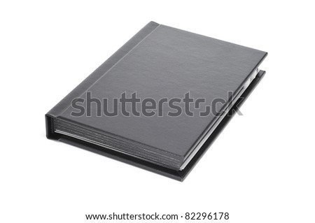 closeup of a notebook on a white background