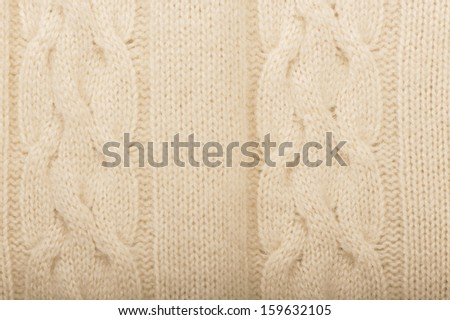 Closeup of a piece of knit fabric
