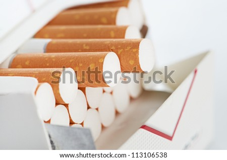 Closeup of a pile of cigarettes See my portfolio for more