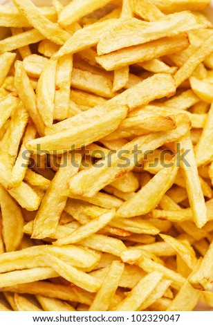 Closeup of a pile of french fries (shallow dof)