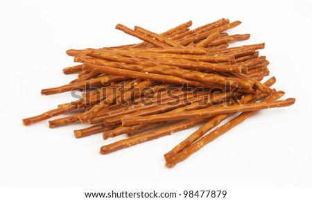 closeup of a pile of pretzel sticks
