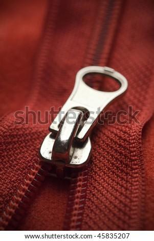 closeup of a red zipper #45835207